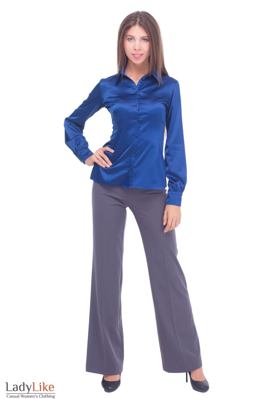 Купить серіе брюки-клеш Деловая женская одежда