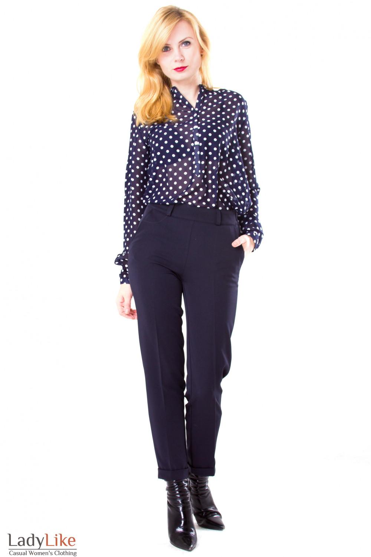 Фото Брюки семь восьмых Деловая женская одежда