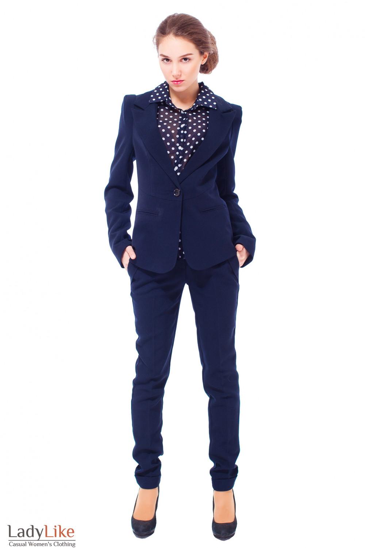 Купить брюки с удлиненным жакетом Деловая женская одежда