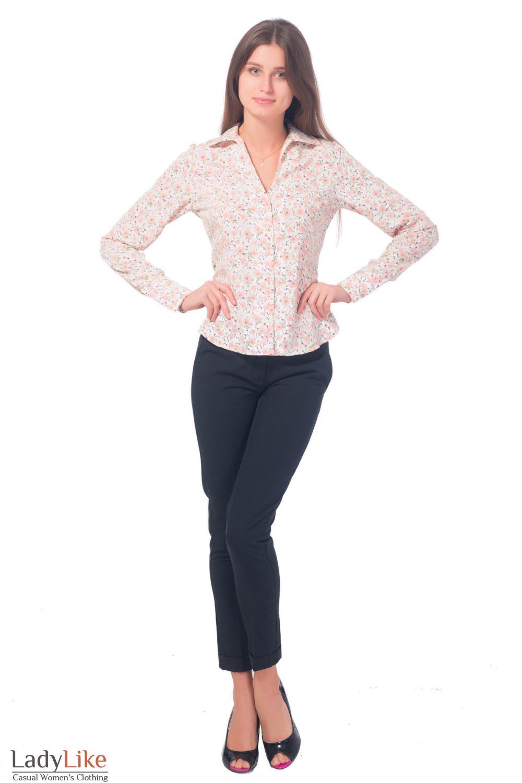 Очень зауженные брюки с манжетой Деловая женская одежда