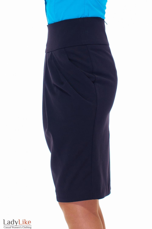 Купить юбку-тюльпан с прорезными карманами Деловая женская одежда