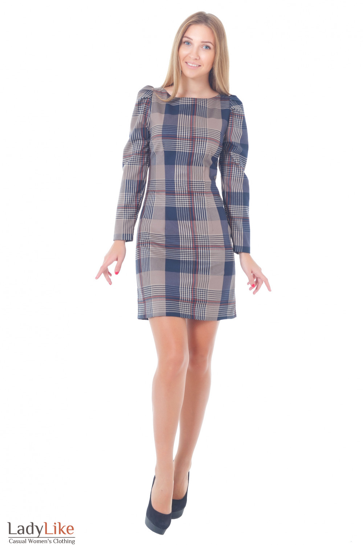 Купить платье-футляр в клетку Деловая женская одежда