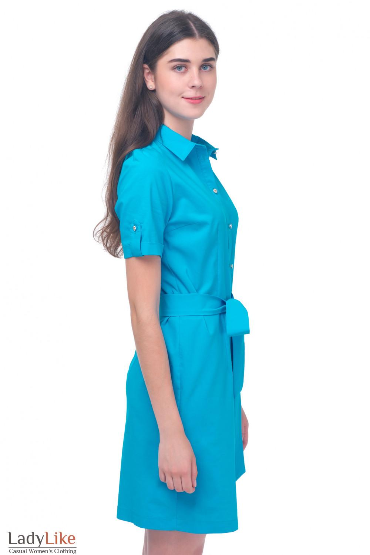 Купить летнее платье-сафари Деловая женская одежда