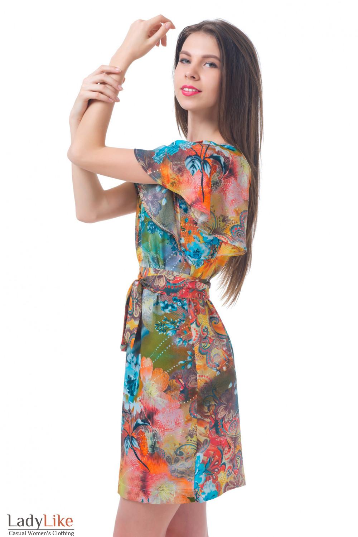 Купить летнее платье цветочного принта Деловая женская одежда
