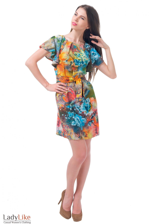 Купить платье летнее с поясом Деловая женская одежда