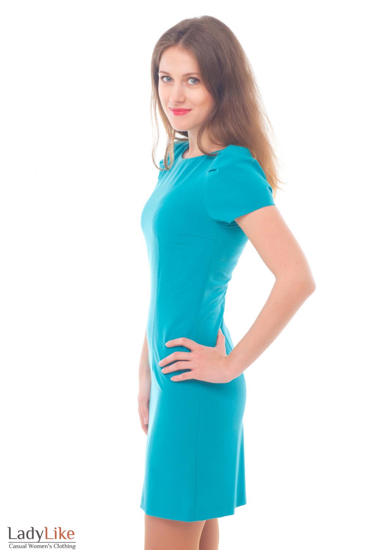 Купить голубое платье Деловая женская одежда