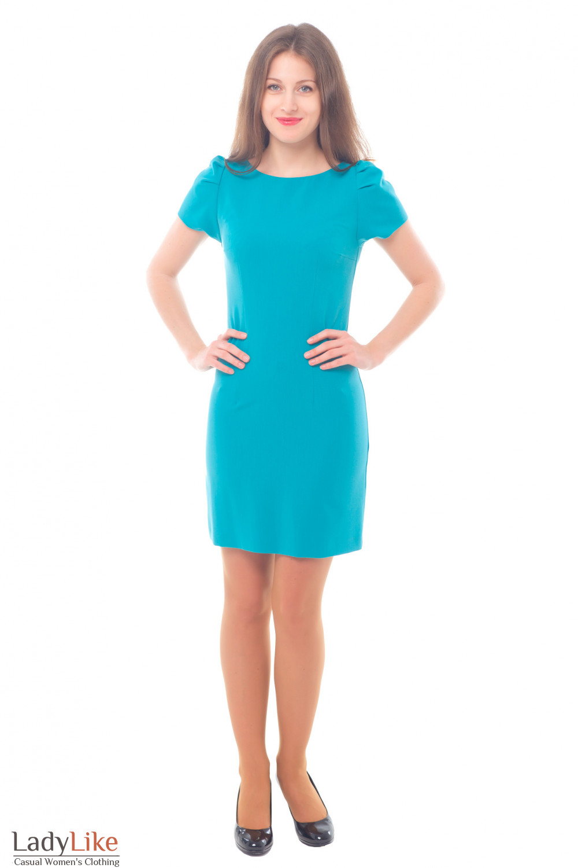 Купить платье с рукавом-фонариком Деловая женская одежда