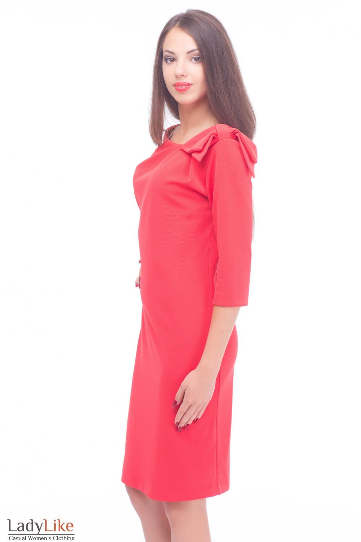Купить красное трикотажное платье Деловая женская одежда