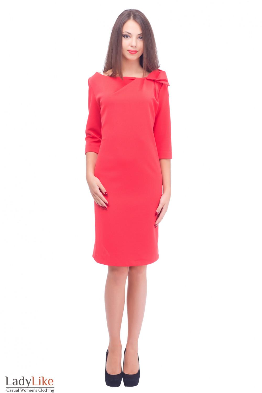 Купить теплое трикотажное платье Деловая женская одежда