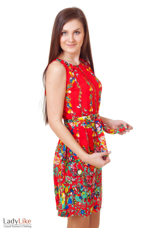 Купить красное летнее платье Деловая женская одежда