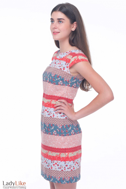 Купить летнее платье в цветочки Деловая женская одежда