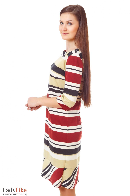 Купить полосатое платье Деловая женская одежда