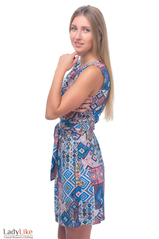 Купить летнее платье с защипами Деловая женская одежда