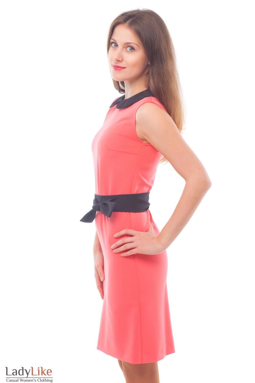 Купить розовое платье без рукавов Деловая женская одежда