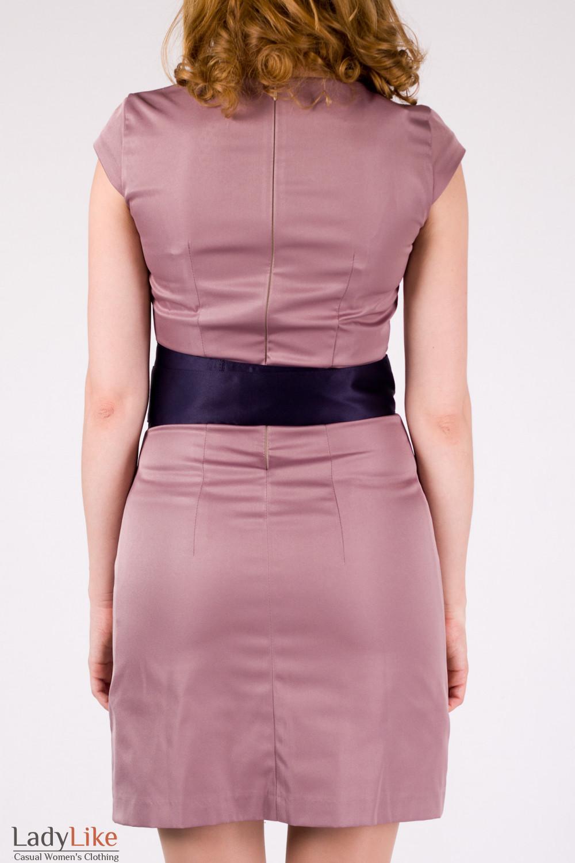 Фото Платье с кушаком Деловая женская одежда