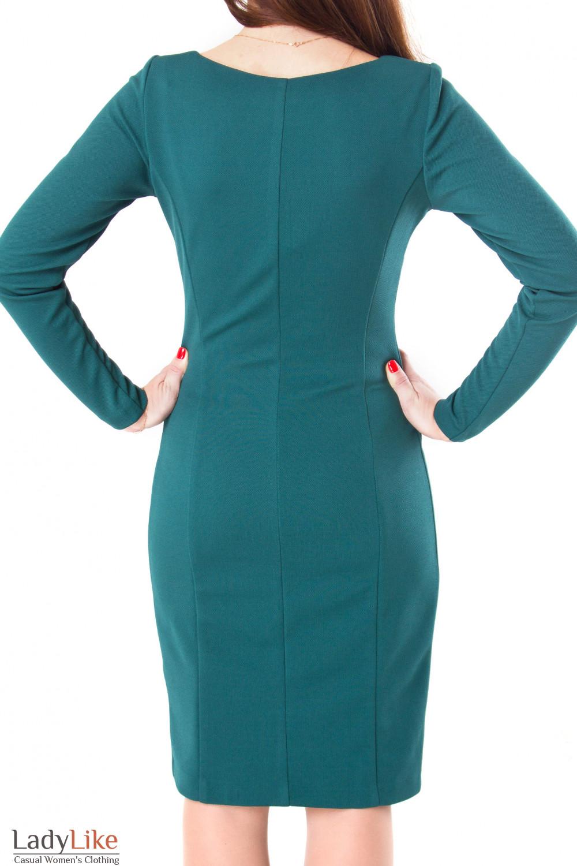 Фото Платье зеленое Деловая женская одежда