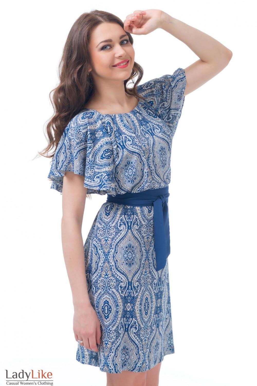Купить платье летнее в орнамент Деловая женская одежда