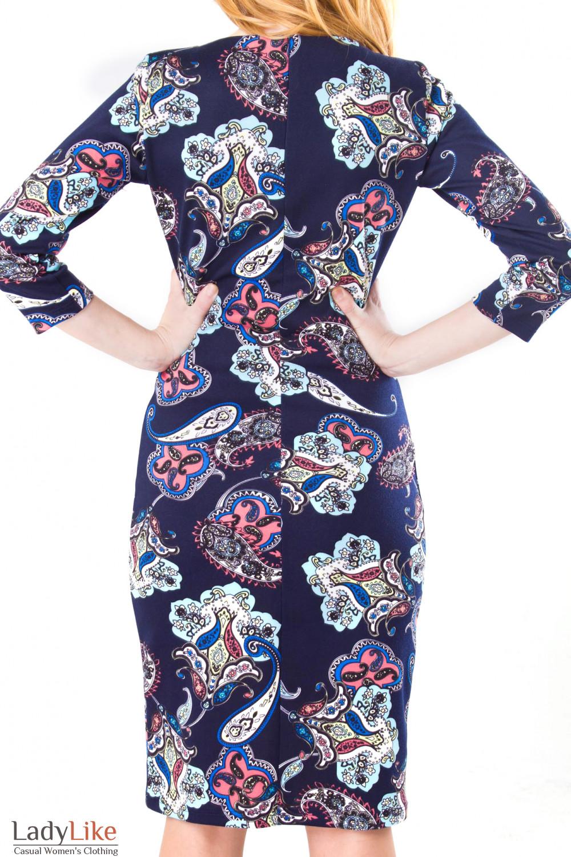 Фото Платье с орнаментом Деловая женская одежда