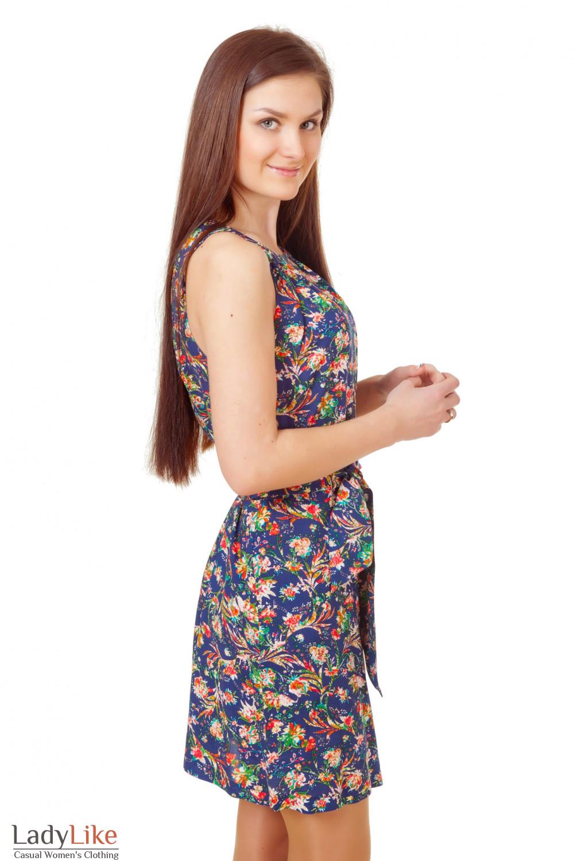 Купить платье летнее в цветочки Деловая женская одежда