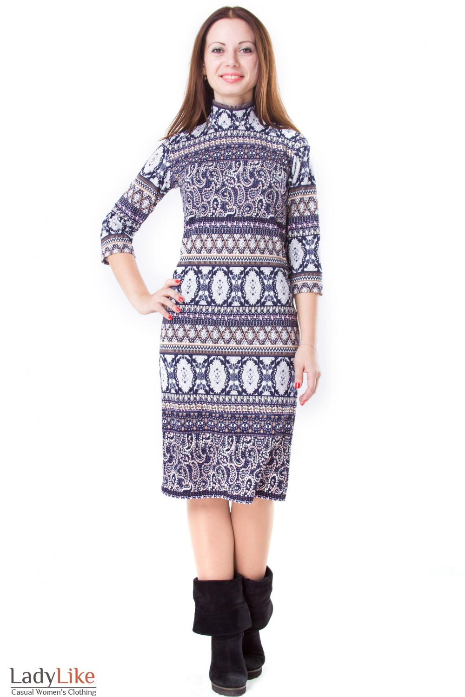 Фото Платье трикотажное Деловая женская одежда