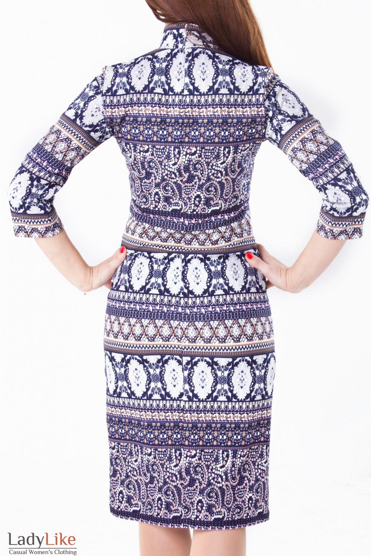 Фото Платье в орнаменты Деловая женская одежда