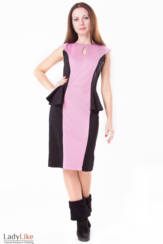 Фото Платье с вставками Деловая женская одежда