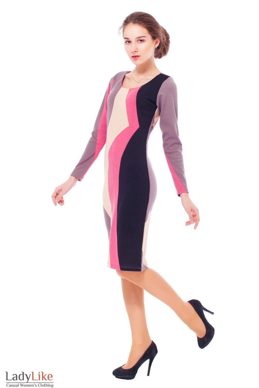Трикотажное платье-футляр Деловая женская одежда
