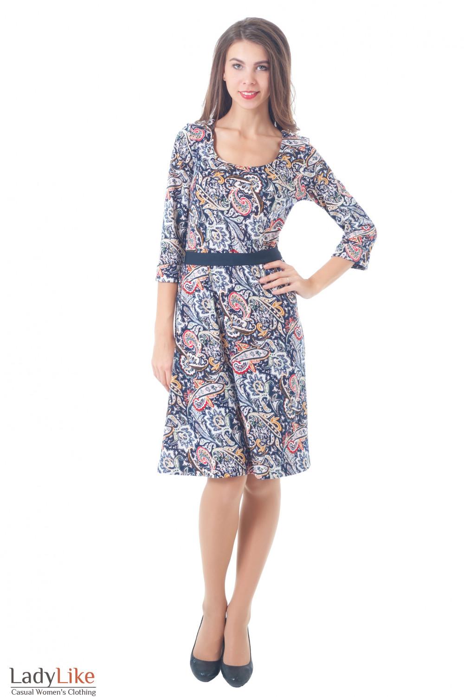 Купить разноцветное платье Деловая женская одежда