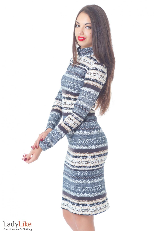 Купить платье в светлую полоску Деловая женская одежда