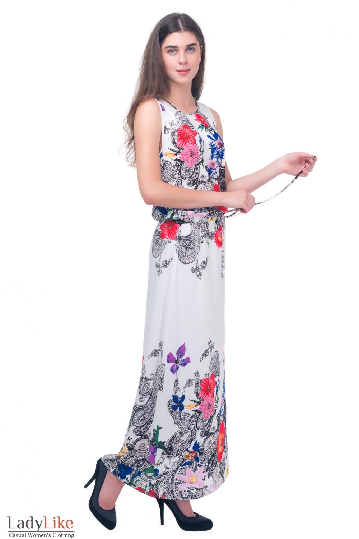 Нарядное платье в пол Деловая женская одежда