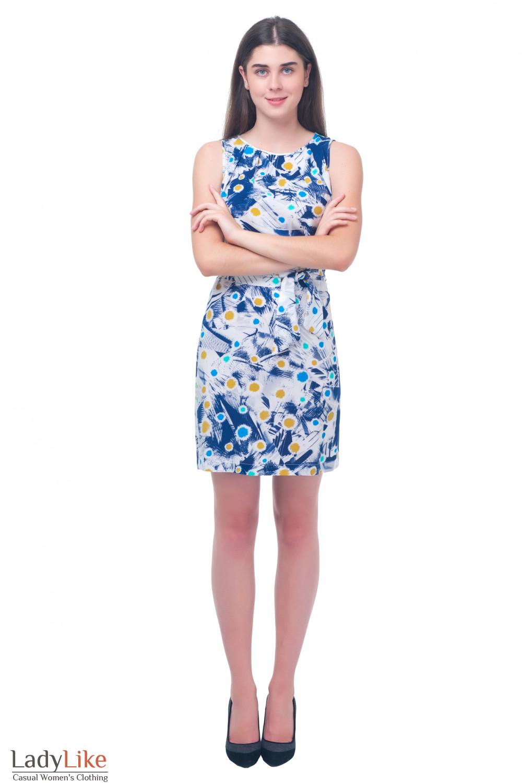 Купить белое платье с поясом Деловая женская одежда