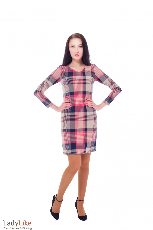 Купить классическое платье в клетку Деловая женская одежда
