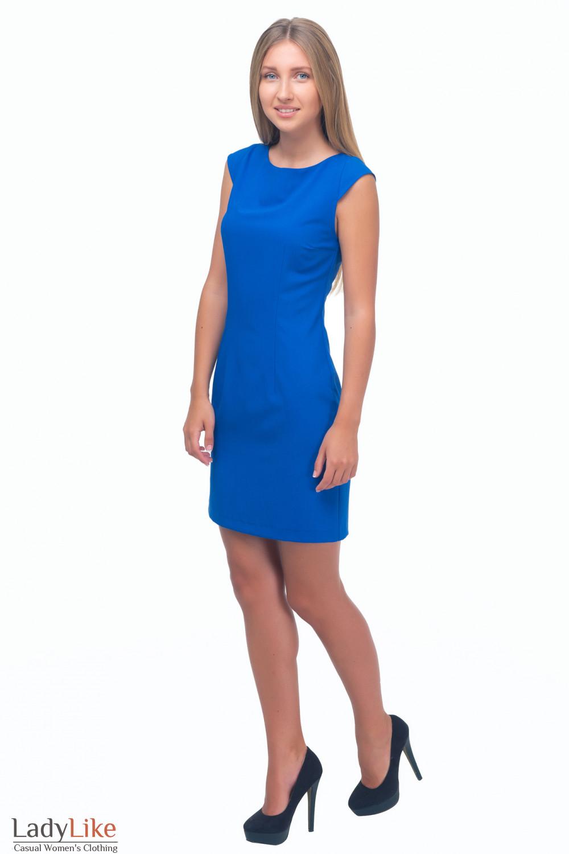 Купить платье-футляр цвета индиго Деловая женская одежда