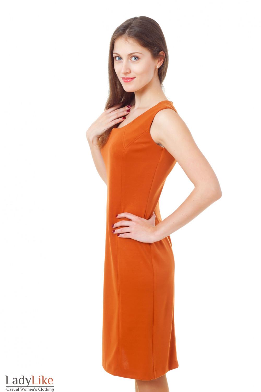 Купить сарафан терракотовый трикотажный Деловая женская одежда