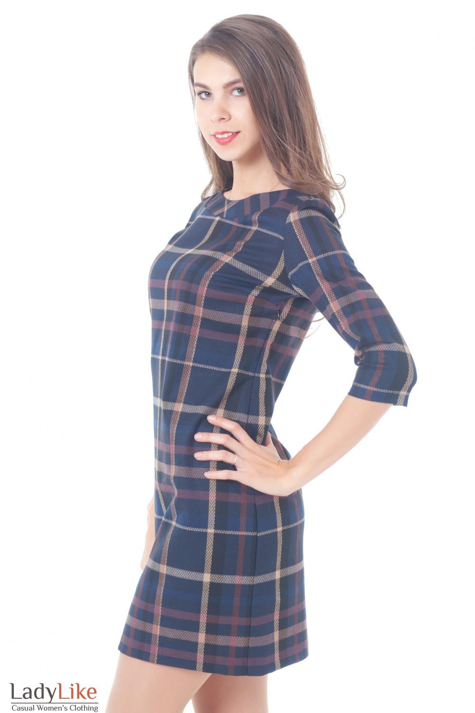 Купить платье в клетку Деловая женская одежда