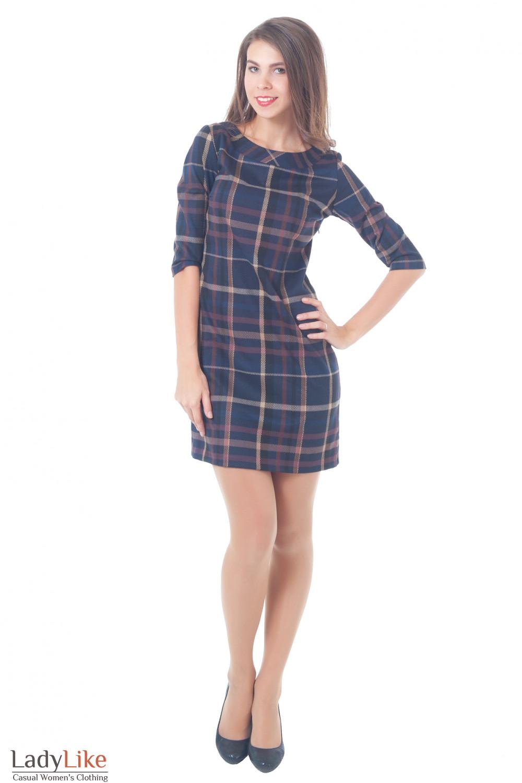Купить деловое платье в клетку Деловая женская одежда