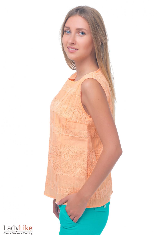 Купить оранжевый топ Деловая женская одежда