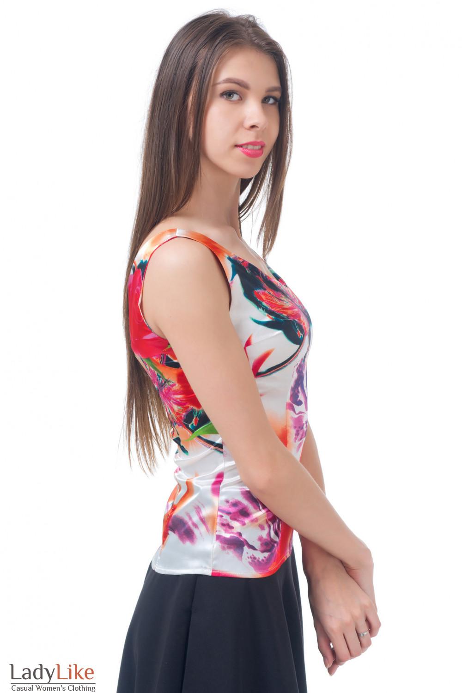 Купить атласный топ Деловая женская одежда