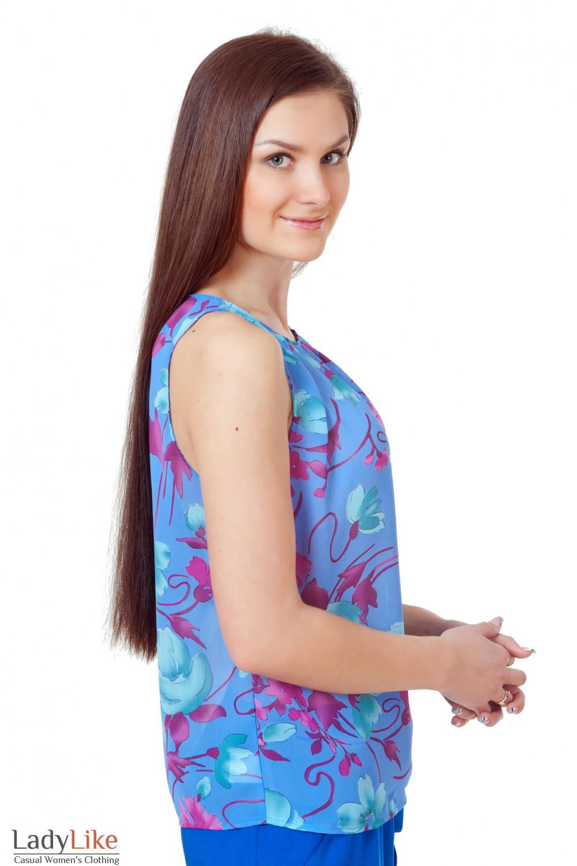 Купить сиреневый топ Деловая женская одежда