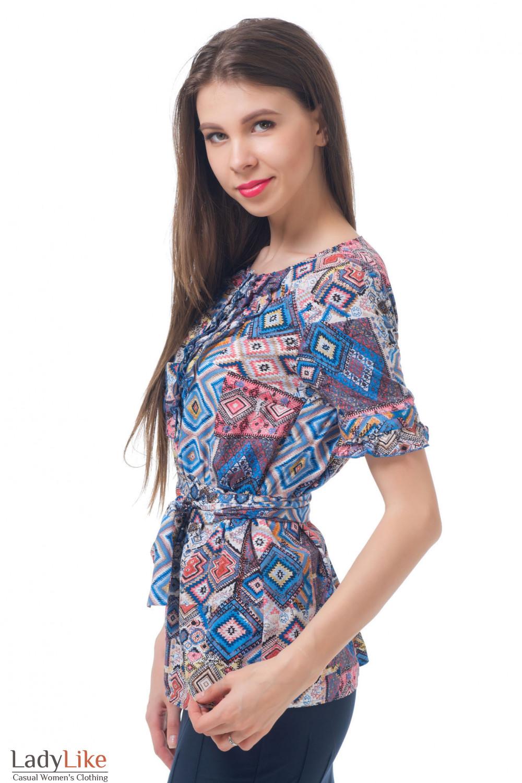 Купить тунику с рюшами Деловая женская одежда