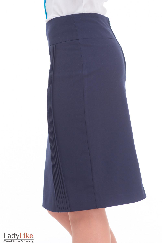Купить синюю юбку-карандаш Деловая женская одежда