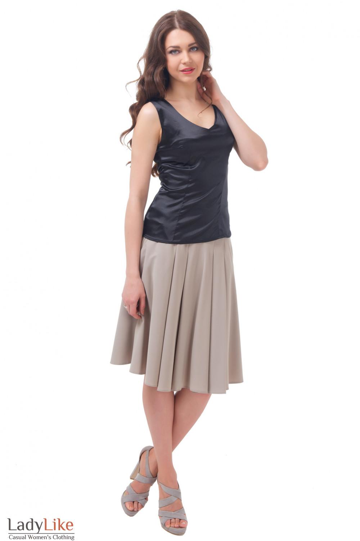 Купить юбку пышную с карманами Деловая женская одежда