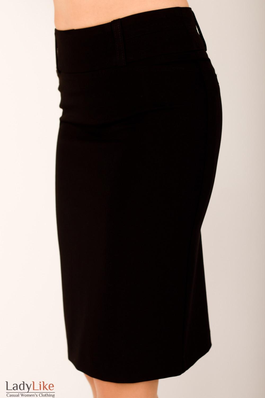 Фото Юбка черная прямая Деловая женская одежда