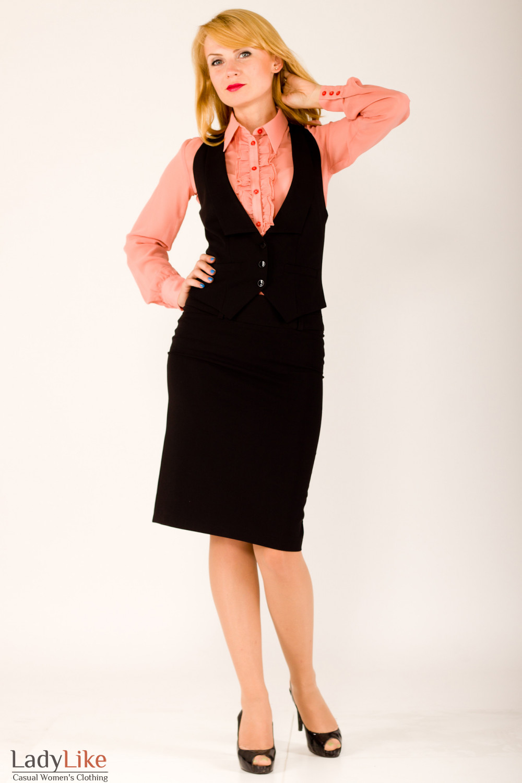 Фото Костюм черный Деловая женская одежда