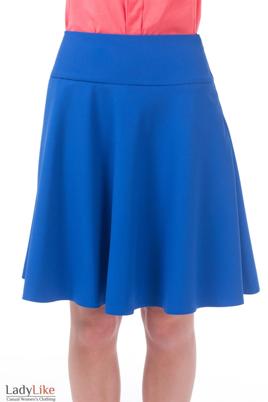 Длинная юбка на кокетке полусолнце
