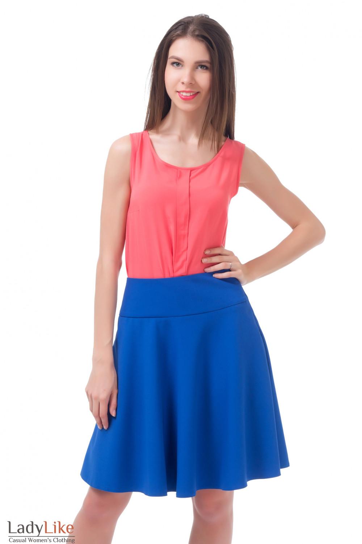 Купить юбку индиго Деловая женская одежда