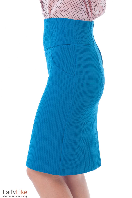 Юбка трикотажная бутылочного цвета Деловая женская одежда