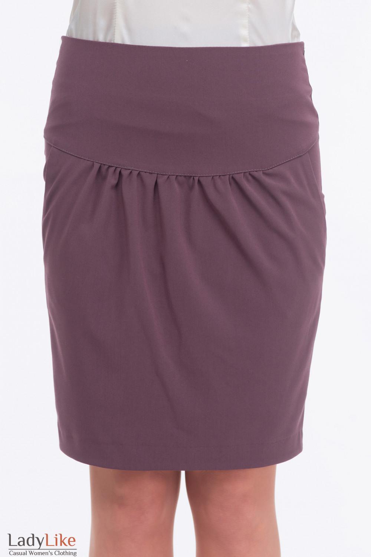 Юбка тюльпан сиреневая  Деловая женская одежда