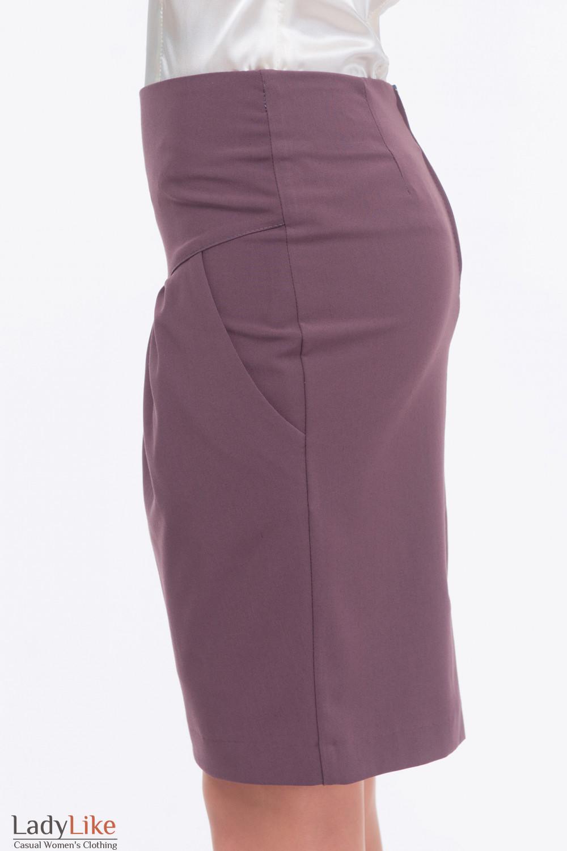 Купить сиреневую юбку Деловая женская одежда