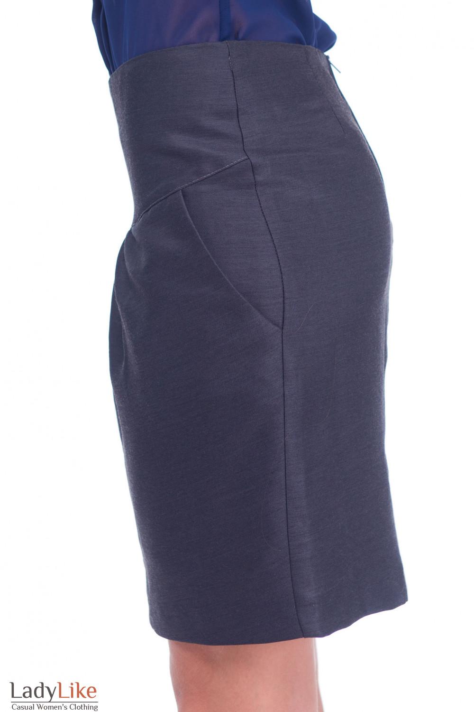 Купить юбку тюльпан темно-серую Деловая женская одежда